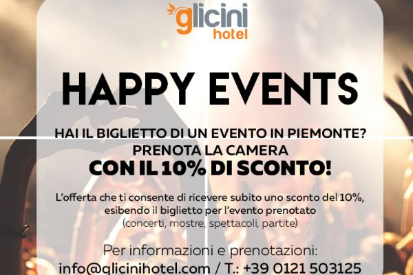 10% discount on the total booking if you attend an event in Piedmont!